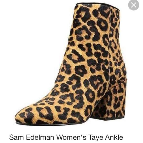 7580abe48c7647 Sam Edelman Leopard Taye Bootie. M 5a78e22e72ea88115e31168a